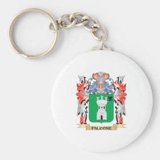 Falcone Coat of Arms - Family Crest Key Ring