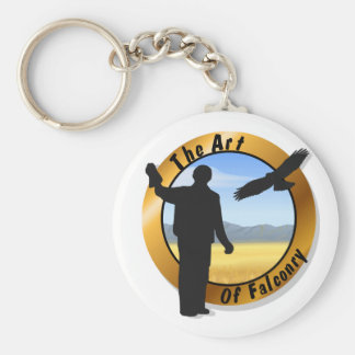 Falconer Medallion Round Keychain Basic Round Button Keychain