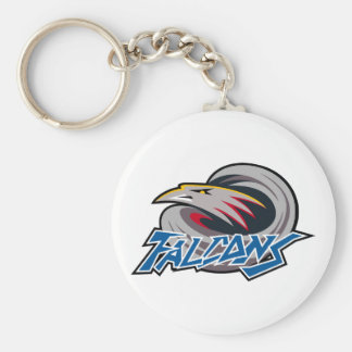 Falcons Apparel Basic Round Button Key Ring