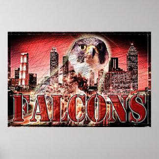 Falcons Football Poster