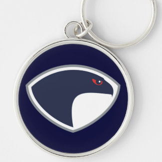 Falcons Silver-Colored Round Key Ring