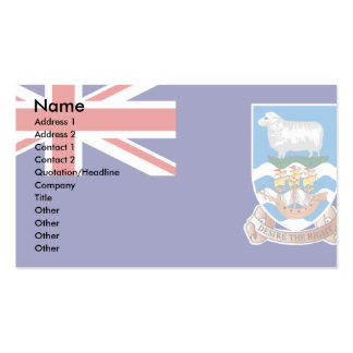 Falkland Islands Flag Business Card