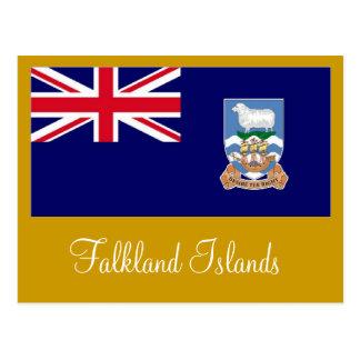 Falkland Islands Islas Malvinas flag Postcard