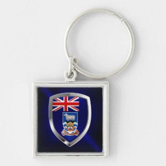 Falkland Islands Mettalic Emblem Key Ring