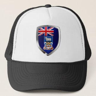 Falkland Islands Mettalic Emblem Trucker Hat