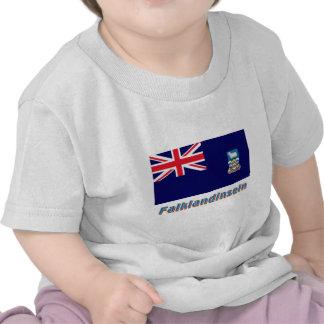 Falklandinseln Flagge mit Namen T-shirt