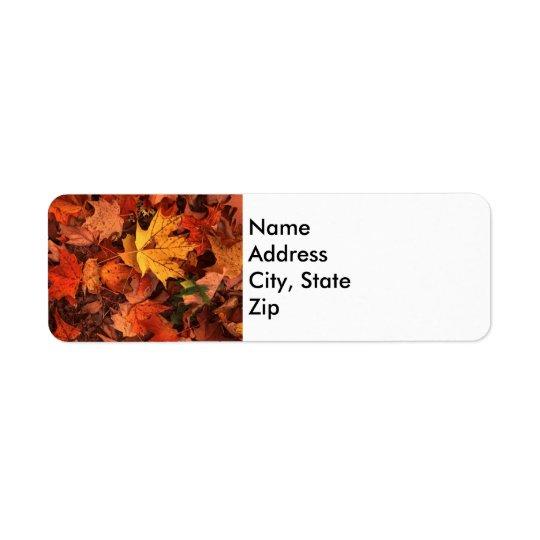 fall address return label return address label