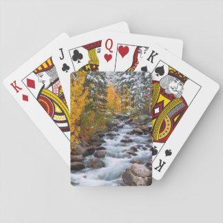 Fall along Bishop creek, California Playing Cards
