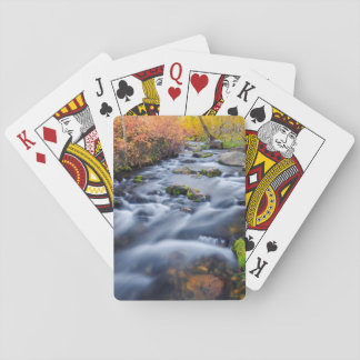 Fall along Lundy Creek, California Playing Cards