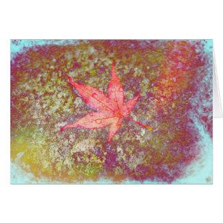 Fall Amber Leaf Metallic Advice Card