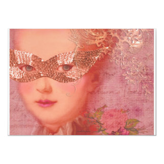 Fall and Winter Ball Masquerade Marie Antoinette Card
