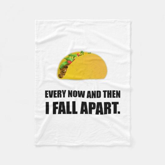 Fall Apart Taco Fleece Blanket
