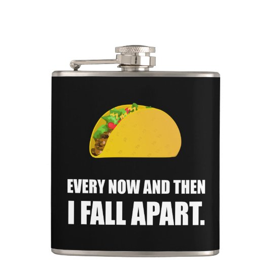 Fall Apart Taco Hip Flask