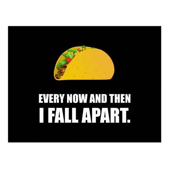 Fall Apart Taco Postcard