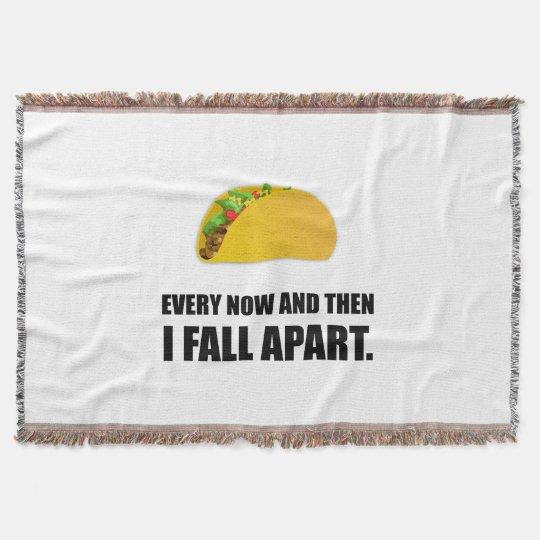 Fall Apart Taco Throw Blanket