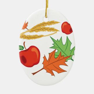Fall Apples Ceramic Oval Decoration