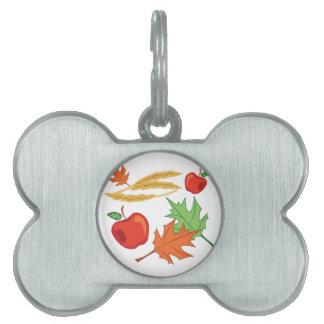Fall Apples Pet Name Tag