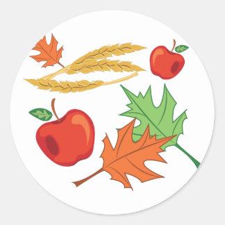 Fall Apples Round Sticker