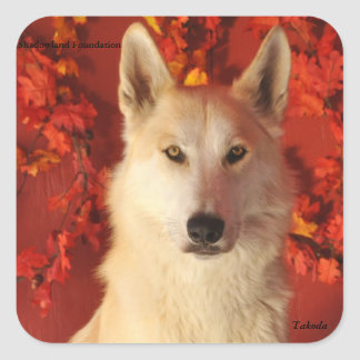 Fall Arctic Wolf Stickers