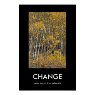 Fall Aspen Grove CHANGE Inspiration Poster