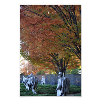 Fall at Korean Memorial Photo Print