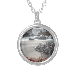 Fall at Middle falls Silver Plated Necklace