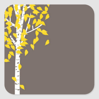 Fall Autumn Aspen Tree Sticker