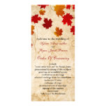 fall autumn brown leaves wedding program full color rack card