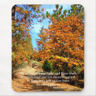 Fall Autumn Christian Scripture Bible Verse Mouse Pad
