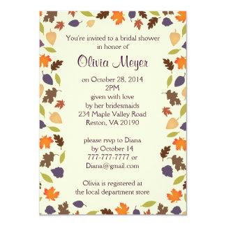 Fall Autumn Leaves Bridal Shower Invitation