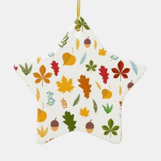 Fall Autumn leaves Seasonal decoritive thankgiving Ceramic Star Decoration
