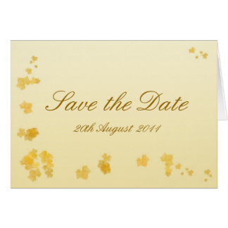 Fall / Autumn Leaves Wedding Save the Date Card