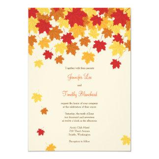 Fall Autumn Maple Leaf Wedding Invitation
