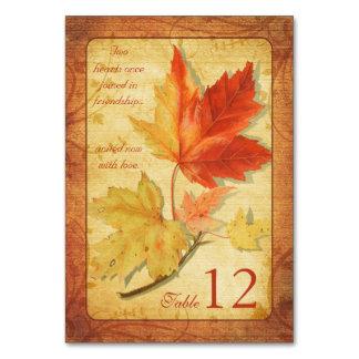 Fall Autumn Maple Leaves Wedding Card