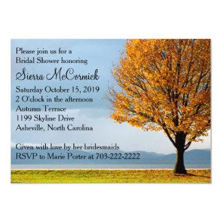 Fall Autumn Maple Tree Bridal Shower 11 Cm X 16 Cm Invitation Card