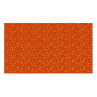 Fall Autumn Orange Acorn Nuts Outline Pattern Business Card Templates