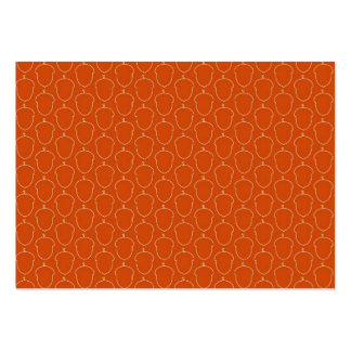 Fall Autumn Orange Acorn Nuts Outline Pattern Pack Of Chubby Business Cards