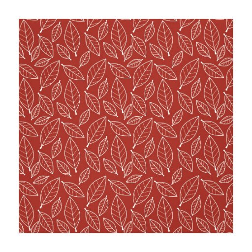 Fall Autumn Red Leaf Leaves Pattern Gallery Wrap Canvas