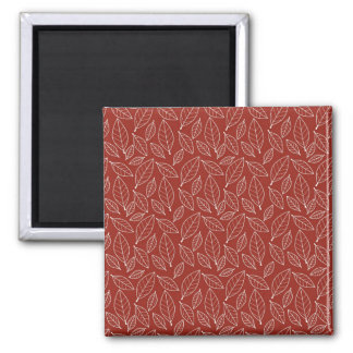 Fall Autumn Red Leaf Leaves Pattern Refrigerator Magnet