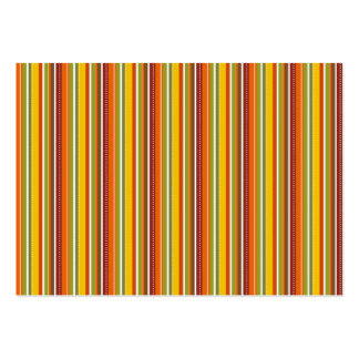 Fall Autumn Striped Pattern Orange Red Gold Business Card