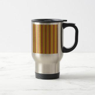 Fall Autumn Striped Pattern Orange Red Gold Mug