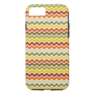 Fall Autumn Thanksgiving Chevron Zigzag Pattern iPhone 7 Case