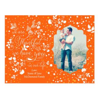 Fall Autumn Thanksgiving Whimsical Postcard