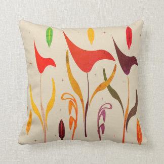 Fall Autumn Tropical Paradise Beige Pillow
