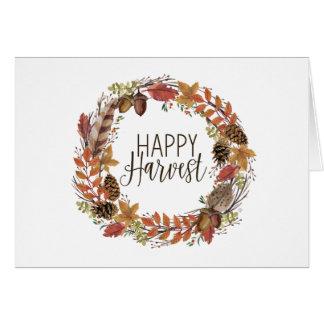 fall autumn watercolor wreath card