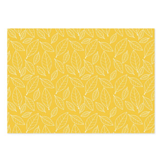 Fall Autumn Yellow Golden Leaf Leaves Pattern Business Card