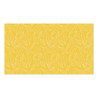Fall Autumn Yellow Golden Leaf Leaves Pattern Business Card Template