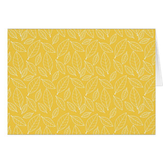 Fall Autumn Yellow Golden Leaf Leaves Pattern Card