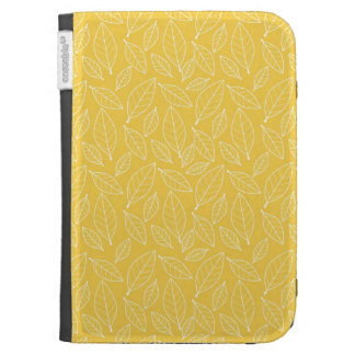 Fall Autumn Yellow Golden Leaf Leaves Pattern Kindle 3G Cases