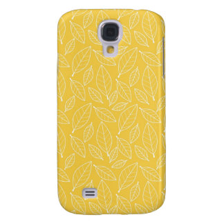 Fall Autumn Yellow Golden Leaf Leaves Pattern Samsung Galaxy S4 Covers